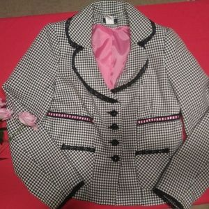 Cute fall pink checkered blazer